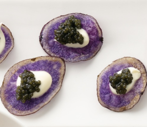 Purple Potato Caviar Recipe