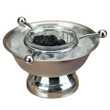 Stainless Steel Caviar Dish Server Perfect To Serve