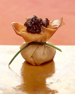 recipe - phyllo purse with beluga caviar