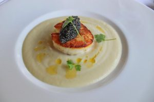 Cauliflower Soup & Scallop Recipe